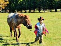 お子様も馬乗を体験できる!
