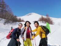 目の前には迫力ある富士山の姿が!