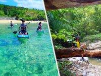 コンボコースでは、沖縄独特の自然が広がる「やんばるの森」でのリバートレッキング付き!