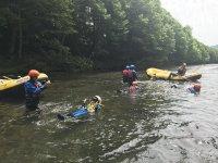 清流「シーソラプチ川」でラフティング体験