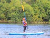 流されること心配がないおだやかな川だから、小学生から楽しめる!
