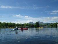曽原湖から磐梯山を眺める
