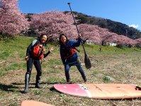 満開の桜の中SUPを楽しもう!
