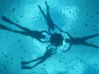 フロートがあるから泳ぎが得意じゃなくても安心!