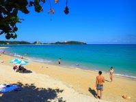 青く澄んだ海と白い砂浜の綺麗なフィールド