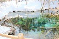 神秘的な青色を味わえる!冬の神の子池に行ってみよう!