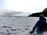 流氷が押し寄せるオホーツク海
