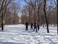 のんびり雪上散策