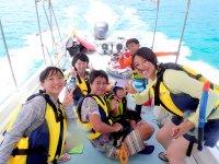 ビーチ・ボート・ウミガメの3種類からコースを選べる!