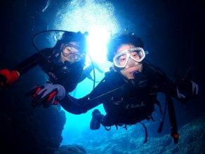 《ボートエントリー》青の洞窟 体験ダイビング