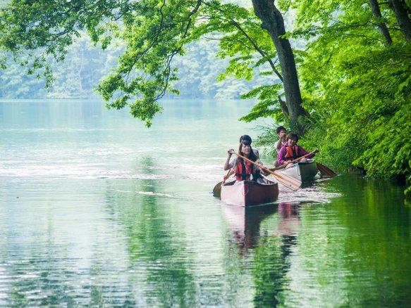 青木湖 カヌー・カヤック