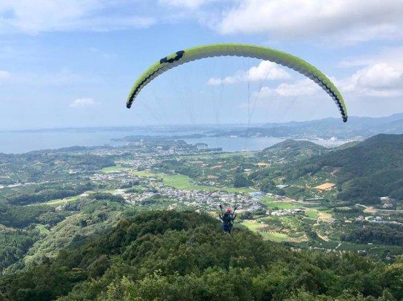 浜名湖 パラグライダー