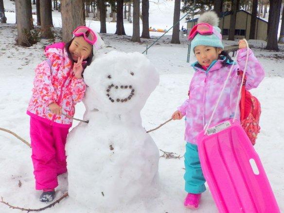 苗場 雪遊び