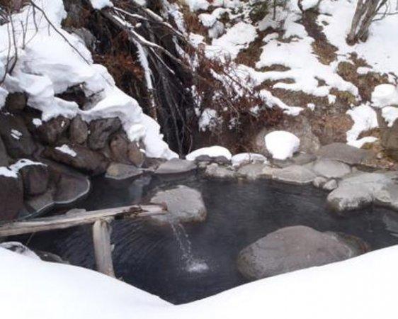 【秘湯スノーシューツアー】標高1300メートルにある秘湯中の秘湯!源泉掛け流し露天風呂!