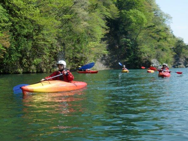 自然豊かな鬼怒川は最高です。のんびりカヌー体験してみませんか。