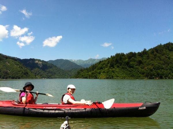 安定性と操作性に優れたファルトボートを使用!少しの練習で漕げるようになるから初心者の方でも大丈夫!