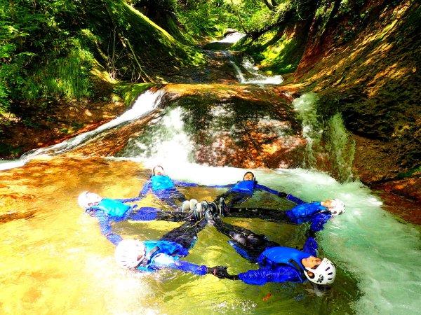 長良川源流 シャワークライミング
