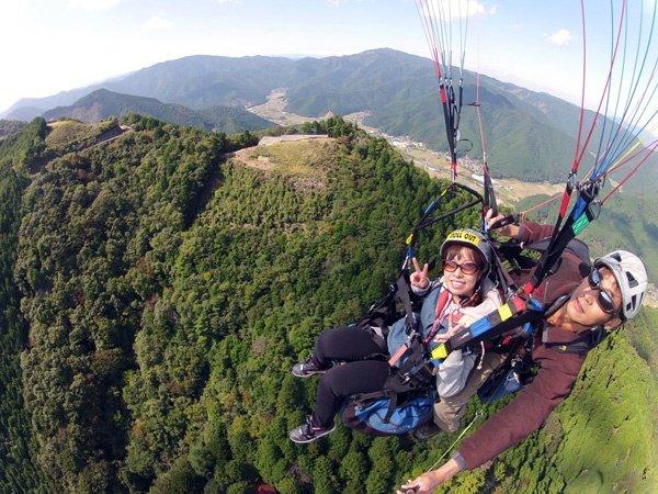 岩屋山 パラグライダー