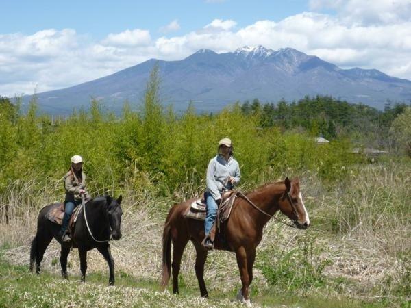 四季折々の表情をみせる甲斐駒の自然を、馬上から楽しんで下さい八ヶ岳を眺めながらゆったりとトレッキング!!
