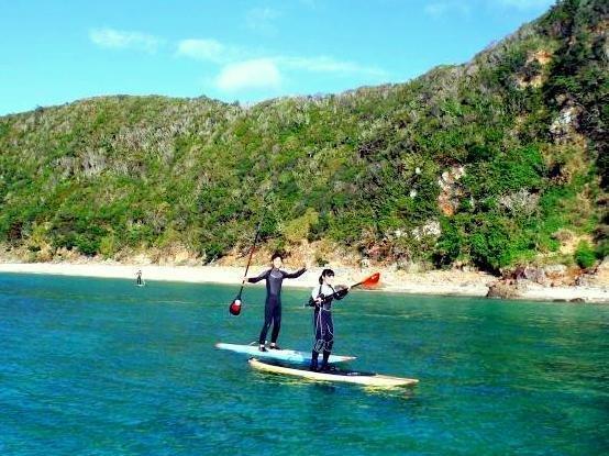 沖縄本島 嘉陽・瀬底島 SUPクルージング