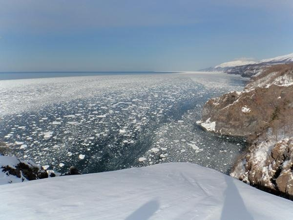 【冬の絶景スノーシューツアー】どこまでも続く流氷の海が見える丘の上を目指して。