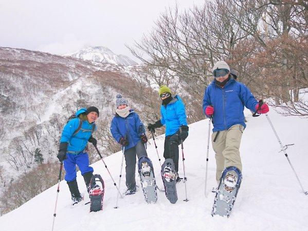 那須連峰の雪景色を眺めながら、ゆったり楽しみたい方に!スノーシュートレッキングコース