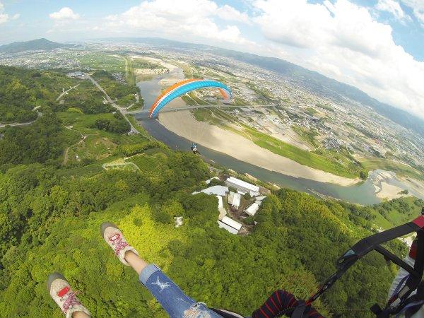 紀の川 パラグライダー