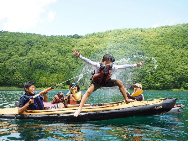 四尾連湖 カヤック