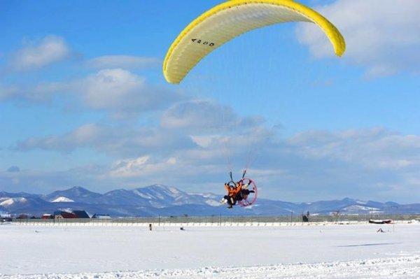 北海道・富良野 モーターパラグライダー
