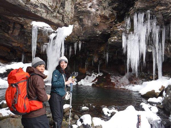 冬しか見れない氷の滝