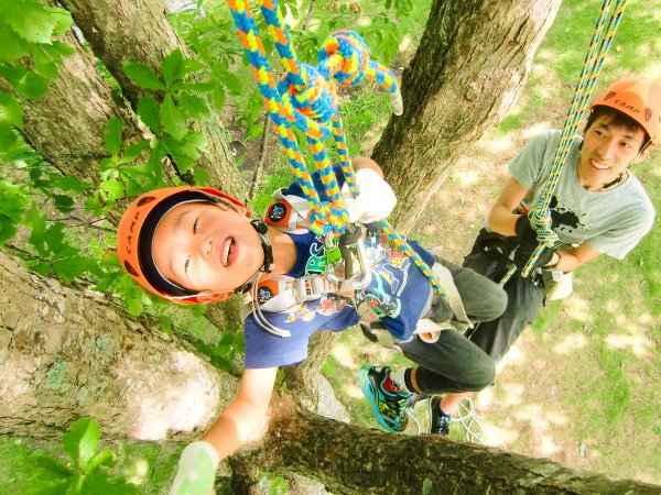 大自然への入口 木のぼり体験