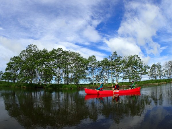 釧路湿原 カナディアンカヌー