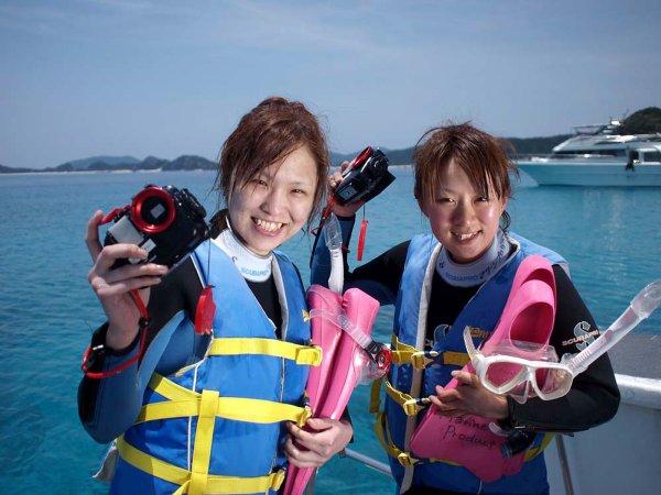 水中カメラを1人1台無料レンタル!