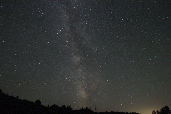 満天の星空に輝く天の川