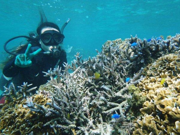 透明度最高の海でパチリ!