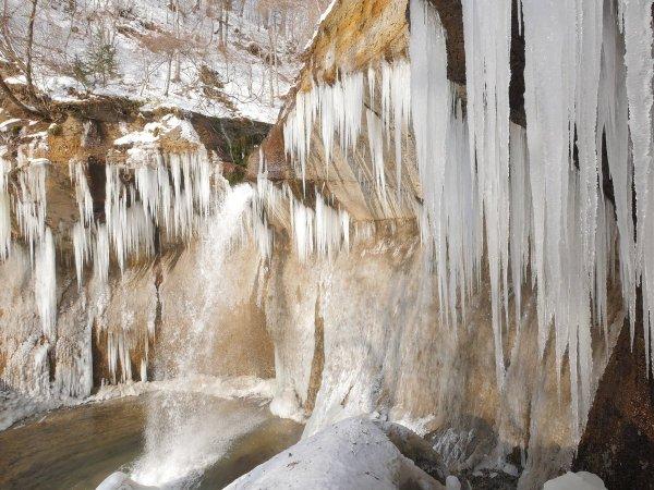 七条大滝 スノーシュー