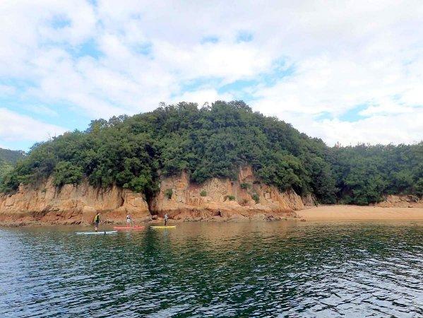岩壁が続く迫力満点の風景から、自然の力強さを感じます!