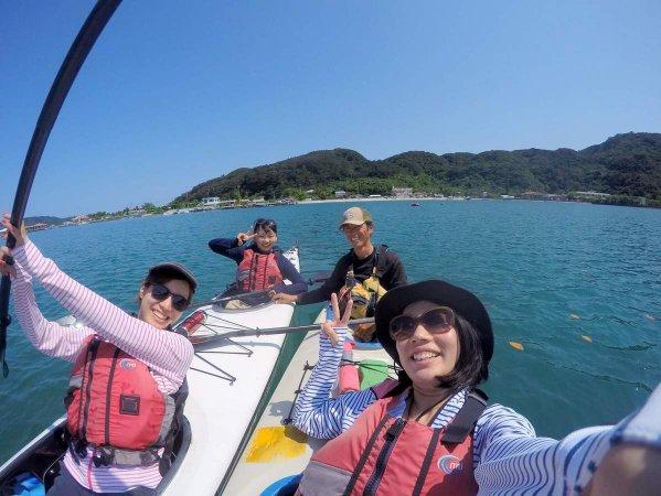さあ、シーカヤックで海の大冒険へ出発!