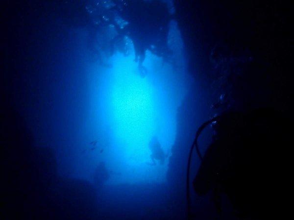 神秘的な青の洞窟へ!浮遊感を楽しめるダイビングスタイルでお連れします!