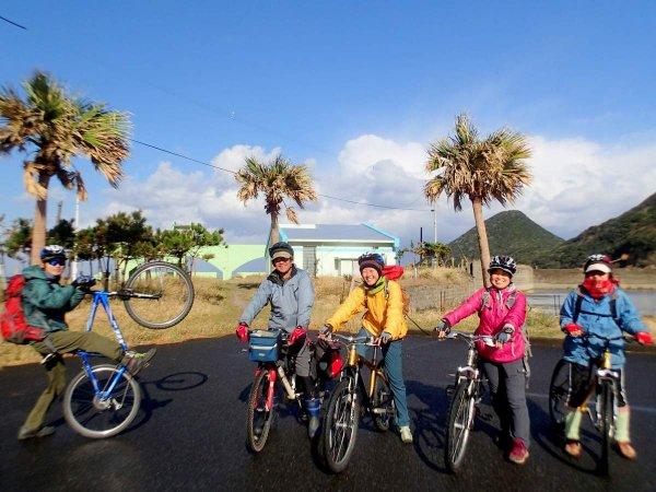 さあ、みんなで自転車散策に出発!