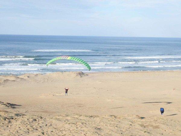 鳥取砂丘でパラグライダーを満喫しよう!一面砂だから初心者も安心!