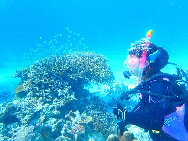 美しい海で、憧れのダイビングデビュー!