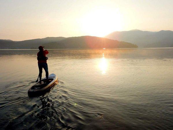 野尻湖 レイクSUP