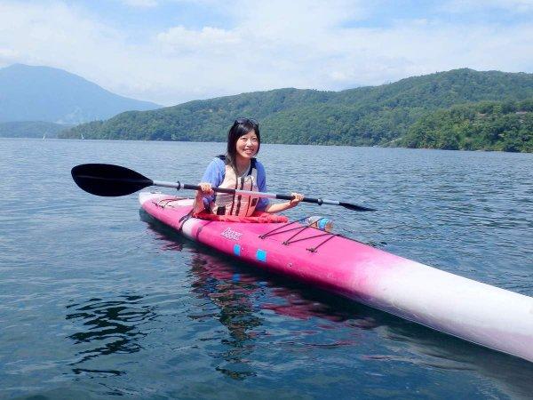 野尻湖 カヌー