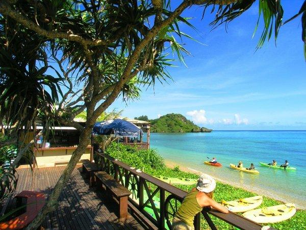 ビーチが一望できるアルガイド沖縄のマリンハウス!