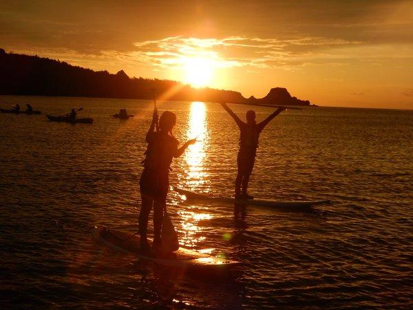 美しい夕日を見ながら優雅にSUPクルージング!