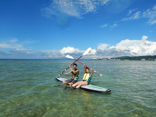 透明度抜群!沖縄の美しい海でSUPを満喫!