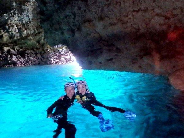 青の洞窟エリア シュノーケリング