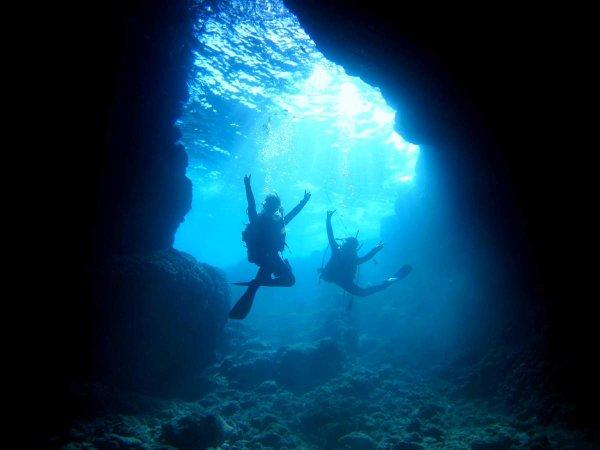 青の洞窟エリア 体験ダイビング