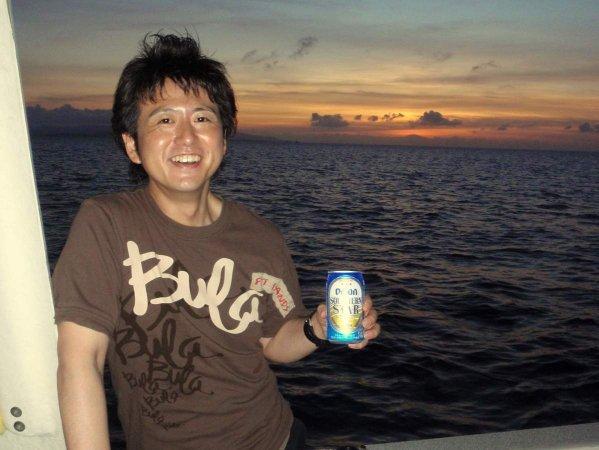 ツアーには、トロピカルジュースかオリオンビールの選べるドリンクがついています。